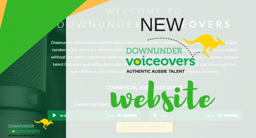 New Downunder Voiceovers Website