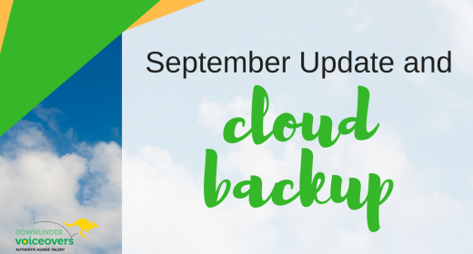 September Update and Cloud Backup